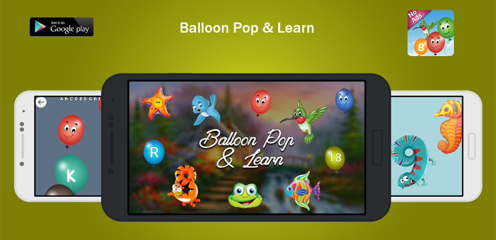 Balloon Pop And Learn For Kids - Android Development