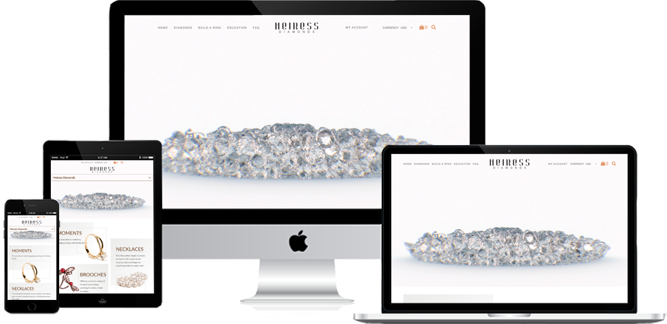 Heiress Diamonds - Shopify Development