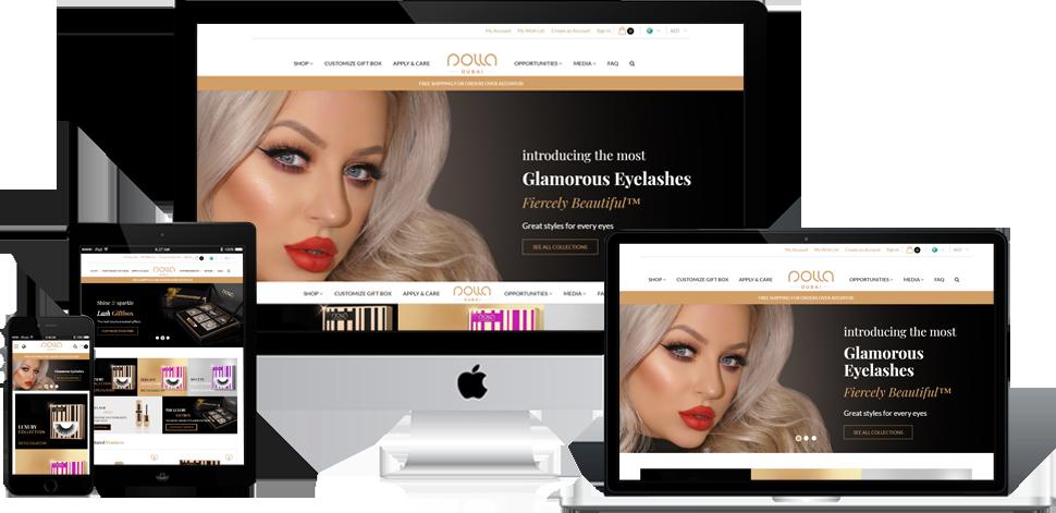 Nolla Lashes - Shopify Development