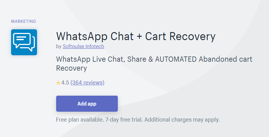 Black Friday 2019-WhatsApp Chat + Cart Recovery by Softpulse Infotech