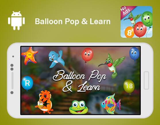Balloon Pop and Learn for kids
